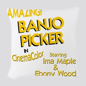funny old style movie poster b Woven Throw Pillow