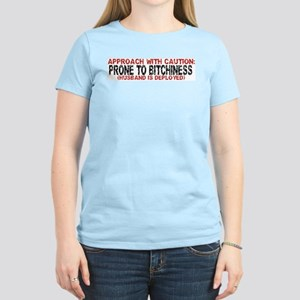 APPROACH WITH CAUTION Women's Pink T-Shirt