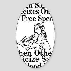 free speech Sticker (Oval)