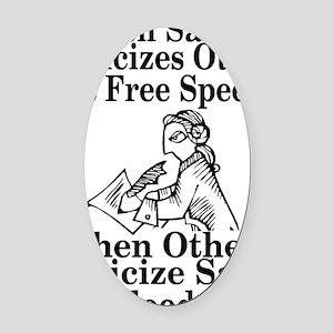 free speech Oval Car Magnet