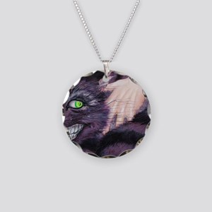 Cheshire Cat Necklace Circle Charm