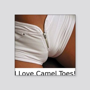"CamelToes Square Sticker 3"" x 3"""