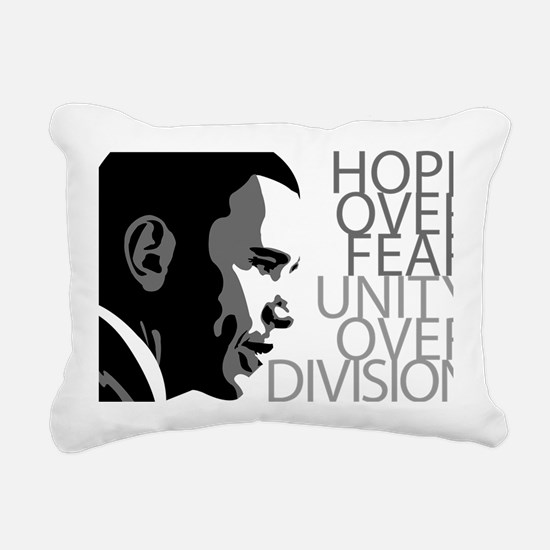 obama_over_division_grey Rectangular Canvas Pillow