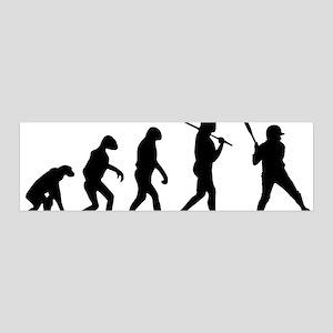 The Evolution Of The Softball Batt 20x6 Wall Decal
