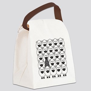 bouvierSheep_mpad Canvas Lunch Bag