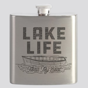 Lake Life Floats My Boat Flask