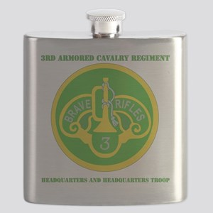 3RD ACR HQ AND HQ TROOP  WITH TEXT Flask
