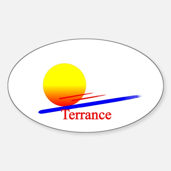 Terrance Oval Decal