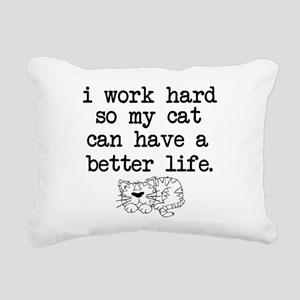 Cat Life Rectangular Canvas Pillow