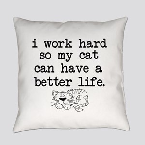 Cat Life Everyday Pillow