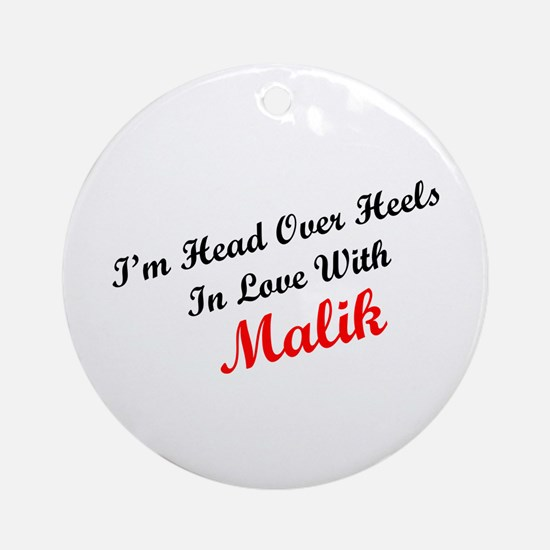 In Love with Malik Ornament (Round)