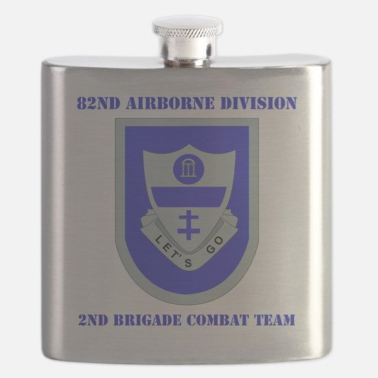 DUI-2ND BCT-82ND AIRBONE DIV. WITH TEXT Flask