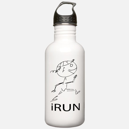 iRUN_girl Water Bottle