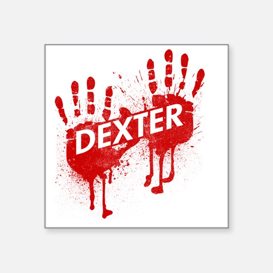 "dextertexred Square Sticker 3"" x 3"""