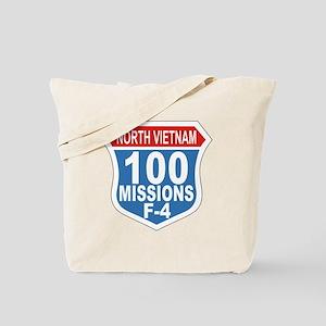 100 Missions F-4 Tote Bag