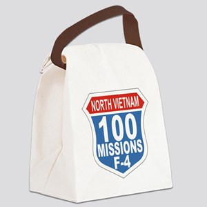 100 Missions F-4 Canvas Lunch Bag
