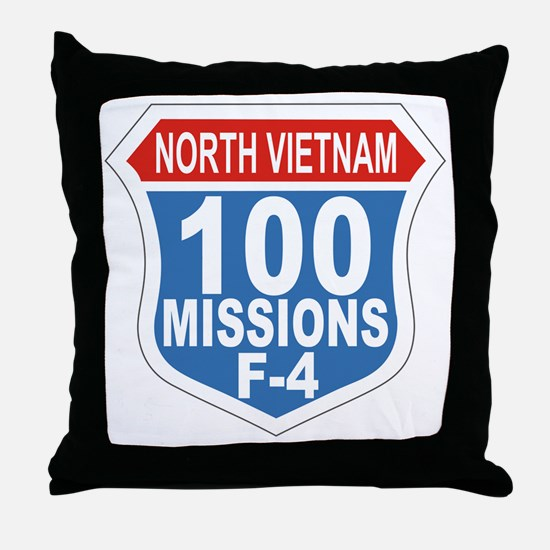 100 Missions F-4 Throw Pillow