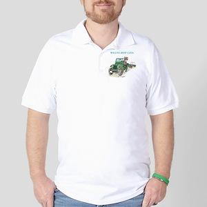 Pegatina3x5WillysCJ2Averde Golf Shirt