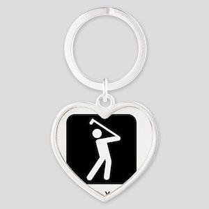 GolfWatchMe Black Heart Keychain
