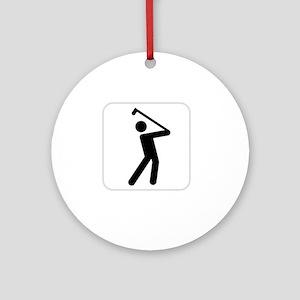 GolfWatchMe White Round Ornament