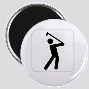 GolfWatchMe White Magnet