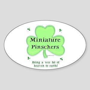 Min Pin Heaven Oval Sticker