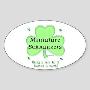 Mini Schnauzer Heaven Oval Sticker