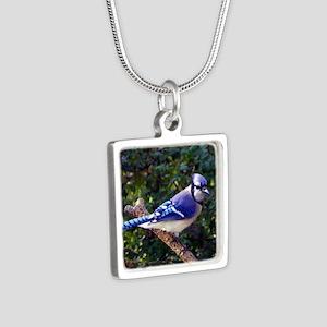bluejayPil Silver Square Necklace