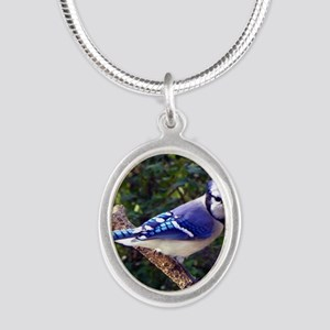 bluejayPil Silver Oval Necklace