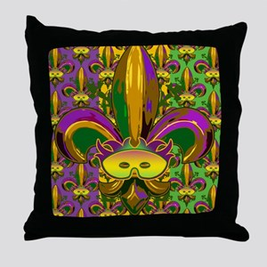 fleurPggMaskFmPat460_ipad Throw Pillow