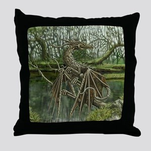 Wood Dragon Throw Pillow