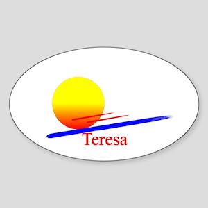 Teresa Oval Sticker