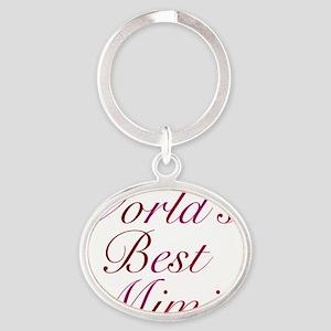 Worlds Best Mimi Oval Keychain