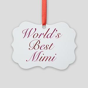 Worlds Best Mimi Picture Ornament