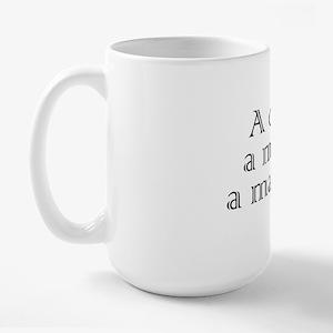 a-car-a-man-a-maraca Large Mug