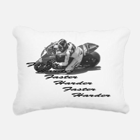 Faster Harder Rectangular Canvas Pillow