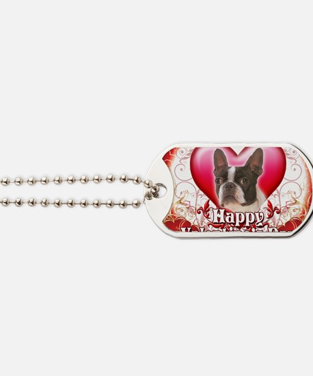 Happy Valentines Day Boston Terrier Dog Tags