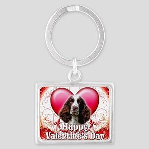 Happy Valentines Day Springer S Landscape Keychain