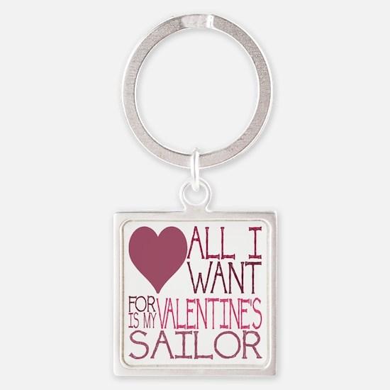 VALENTINE SAILOR Square Keychain