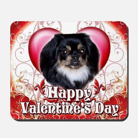 Happy Valentines Day Pekingnese Mousepad