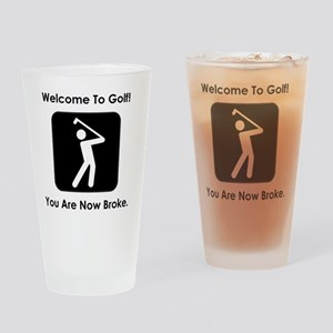 GolfBroke Black Drinking Glass