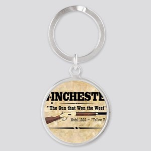 winchester_mouse Round Keychain