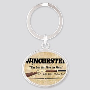 winchester_mouse Oval Keychain