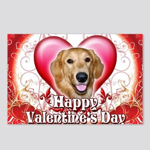 Happy Valentines Day Gold Postcards (Package of 8)