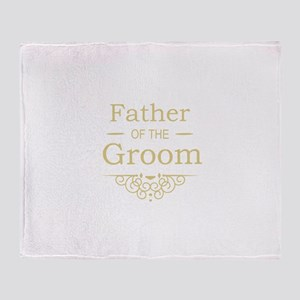 Father of the Groom gold Throw Blanket