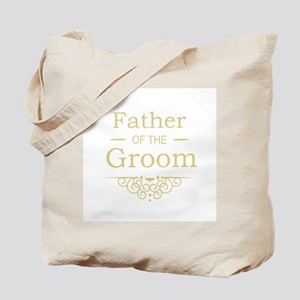 Father of the Groom gold Tote Bag