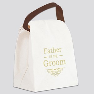 Father of the Groom gold Canvas Lunch Bag