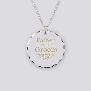 Father of the Groom gold Necklace Circle Charm
