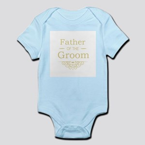 Father of the Groom gold Body Suit
