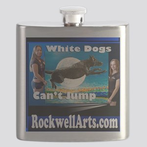 3- white dogs T Flask